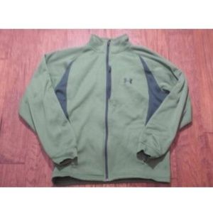 Under Armor Green Athletic Jacket M Loose Fit